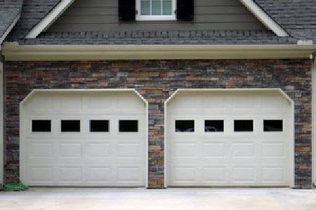 Two separate garage doors